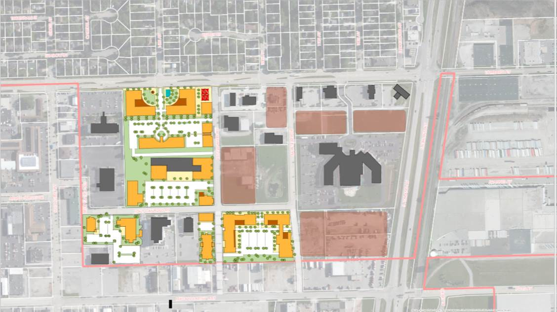Conceptual Redevelopment Sites Map