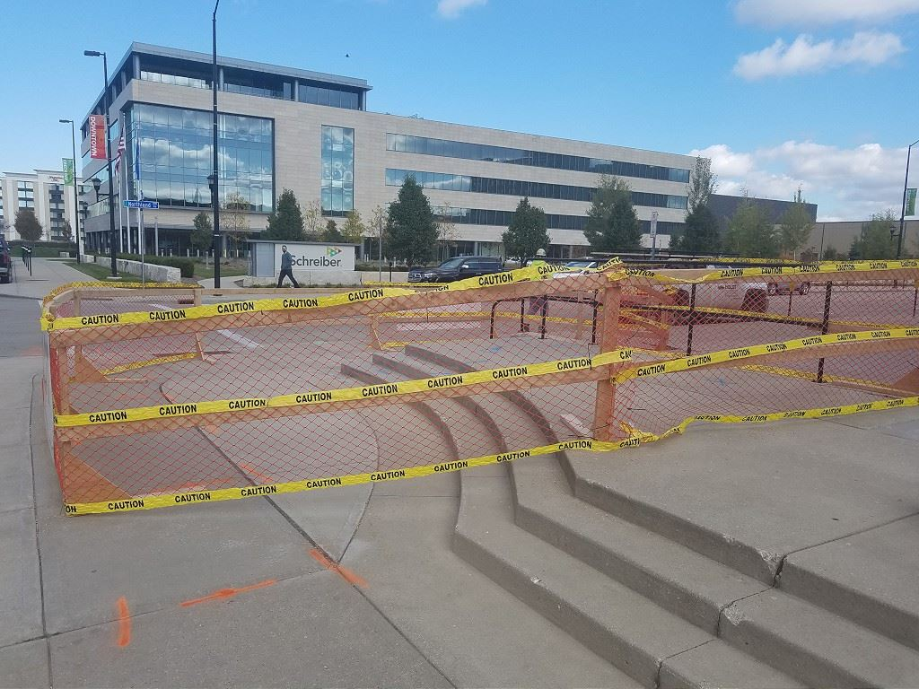 Embark sculpture site under construction