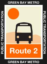 Route 2 Orange Icon