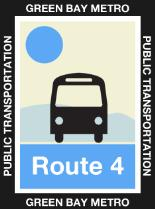 Route 4 Blue Icon