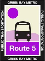 Route 5 Plum Icon