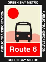 Route 6 Red Icon