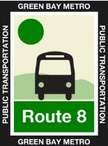 Route 8 Green Icon