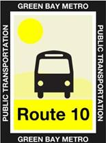 Route 10 Yellow Icon
