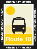 Route 18 Gold Icon