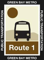 Route 1 Brown Icon