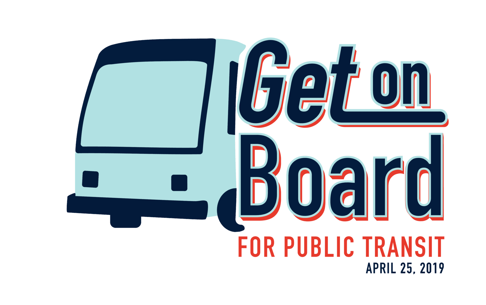 Get on Board Logo Bus