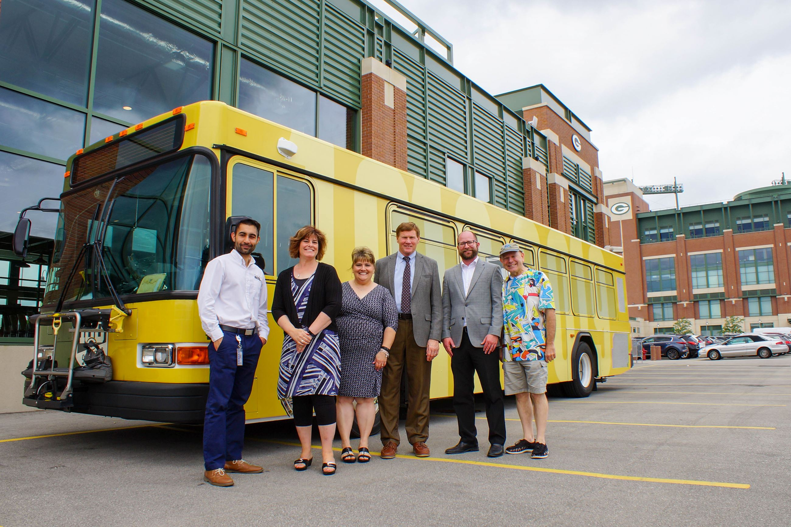 Metro Transit Routes Green and Gold with Packers