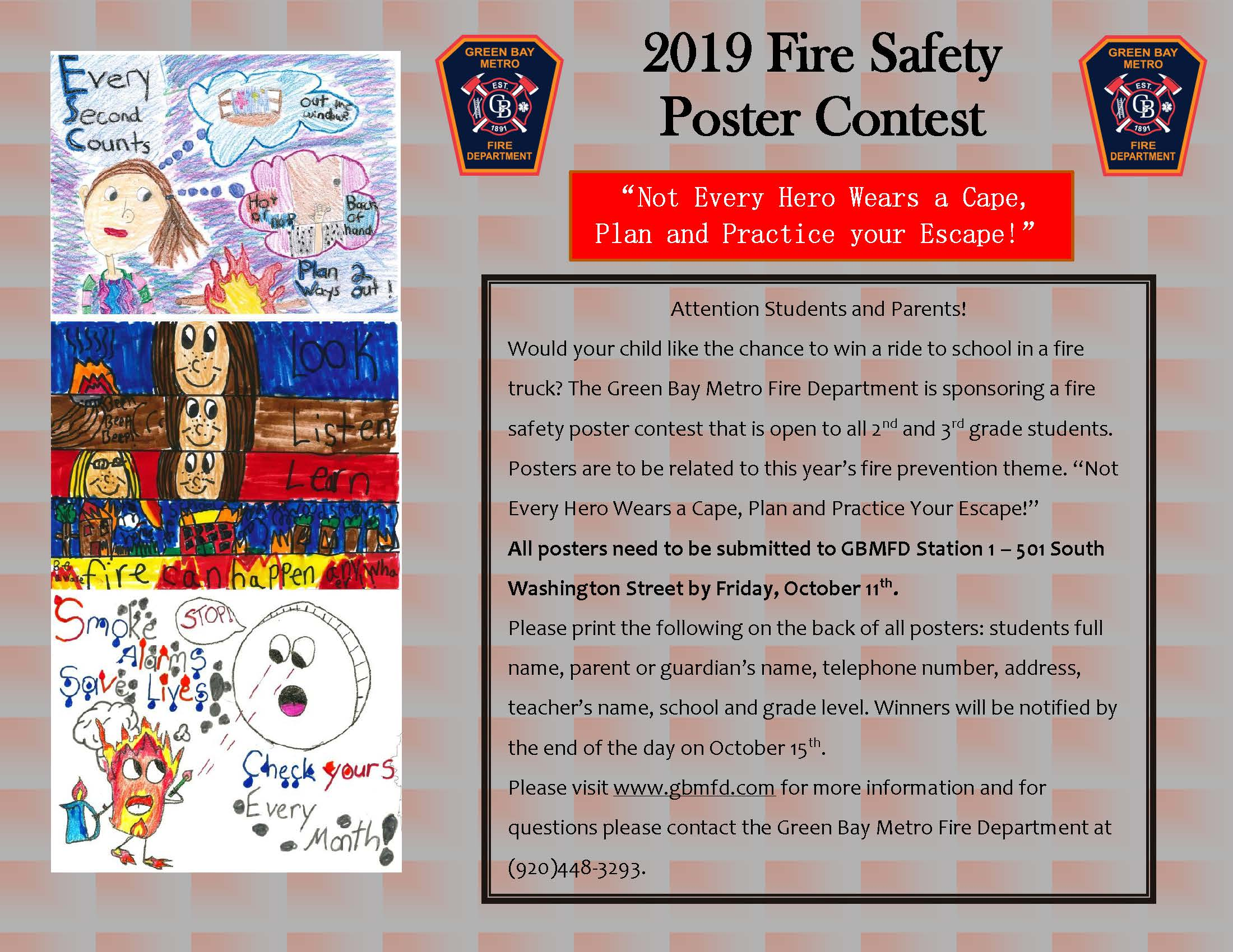 2019 Fire Prevention Poster Contest