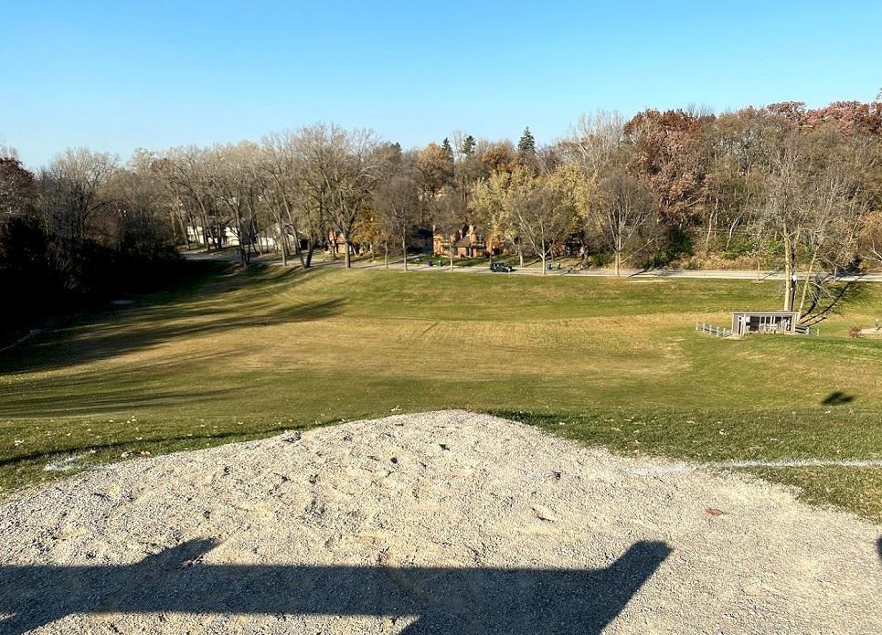 Disc Golf hole 1 top view