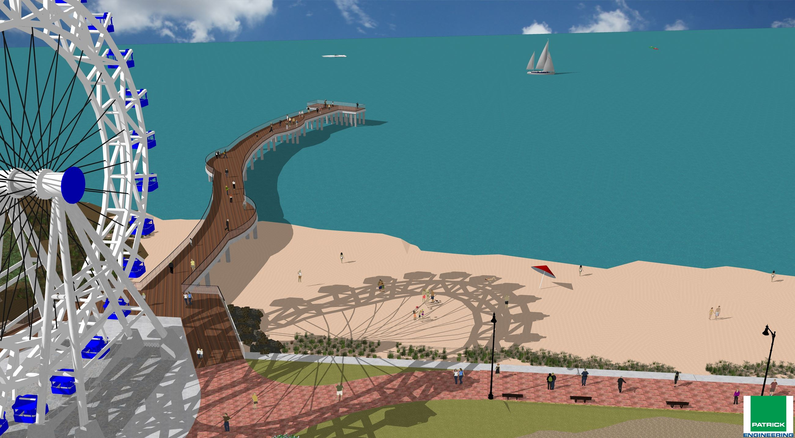 Rendering of Bay Beach Pier